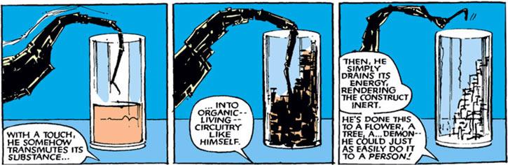 Warlock - Marvel Comics - New Mutants - Techno organic alien - absorbing a drink
