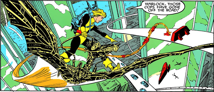 Warlock - Marvel Comics - New Mutants - Techno organic alien - Flying pterodactyl steed for Cypher