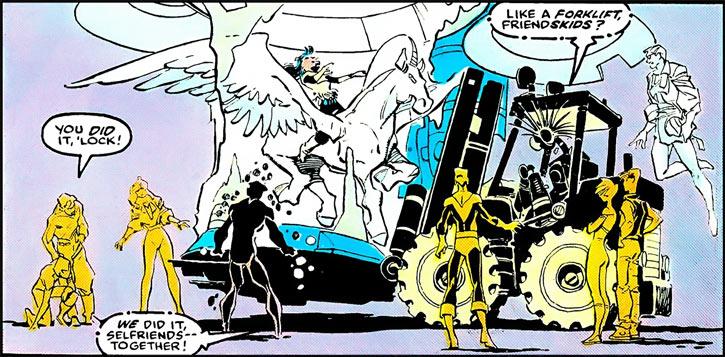 Warlock - Marvel Comics - New Mutants - Techno organic alien - Forklift