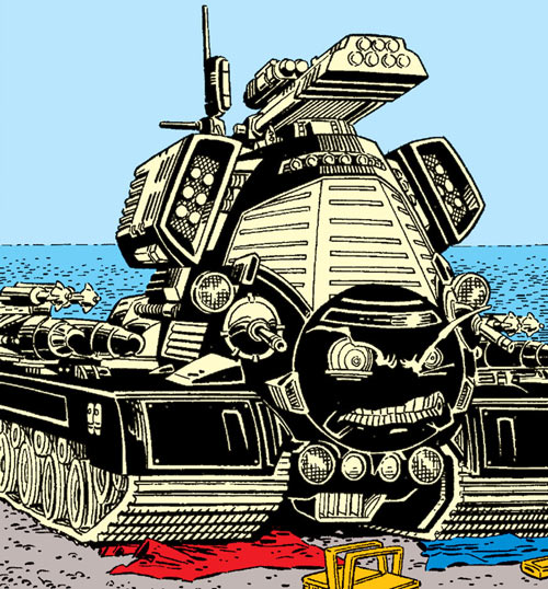 Warlock - Marvel Comics - New Mutants - Techno organic alien - tank on the beach