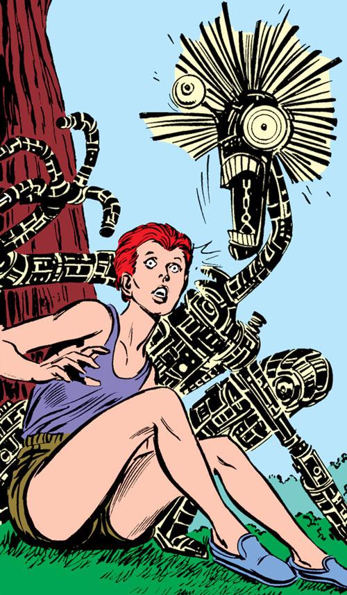 Warlock - Marvel Comics - New Mutants - Techno organic alien - with Wolfsbane