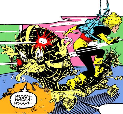 Warlock - Marvel Comics - New Mutants - Techno organic alien - Skateboard teasing