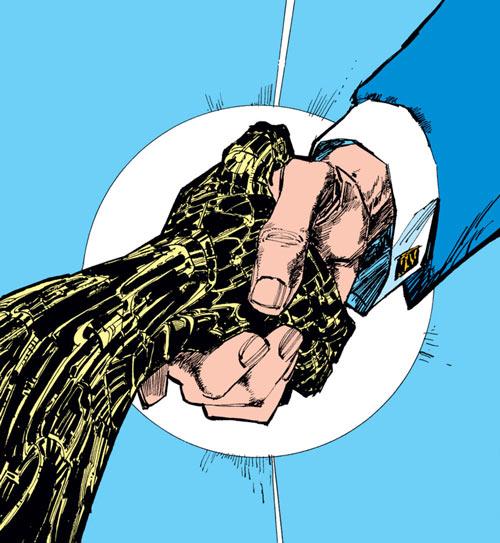 Warlock - Marvel Comics - New Mutants - Techno organic alien - Handshake