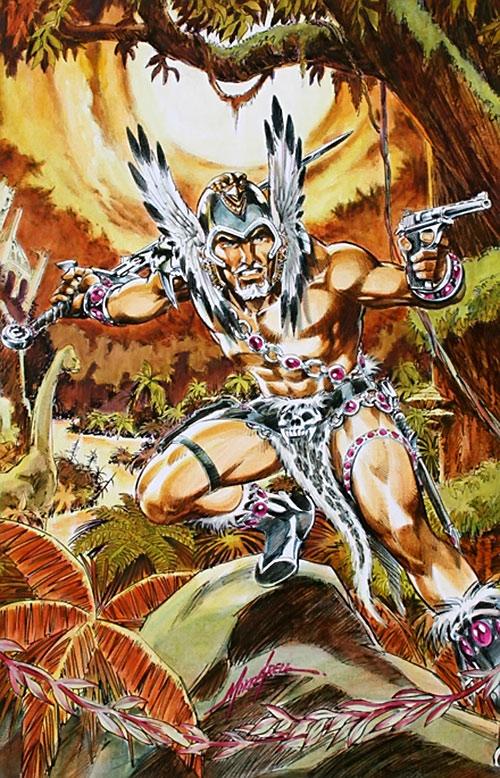 The Warlord (Travis Morgan) (DC Comics) in Skartaris