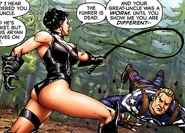 Warrior Woman (Julia Koenig) vs. Captain America