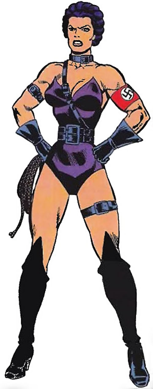 Warrior Woman (Captain America Invaders Nazi enemy) (Marvel Comics) with fists on her hips