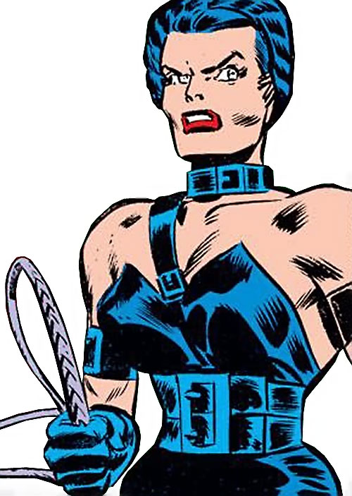 Warrior Woman (Captain America Invaders Nazi enemy) (Marvel Comics) with a whip