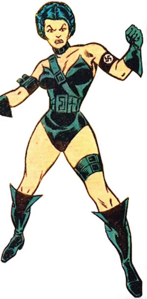 Warrior Woman (Captain America Invaders Nazi enemy) (Marvel Comics) 1970s art