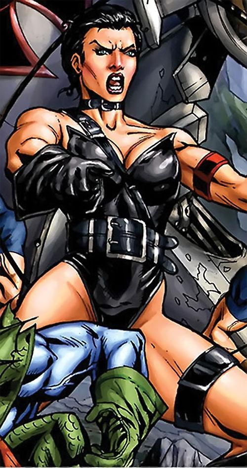 Warrior Woman (Captain America Invaders Nazi enemy) (Marvel Comics) yelling