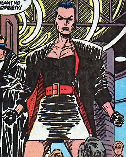 Warrior Woman (Captain America Invaders Nazi enemy) (Marvel Comics) in a 1990s black leather outfit