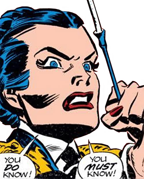 Warrior Woman (Captain America Invaders Nazi enemy) (Marvel Comics) early face closeup