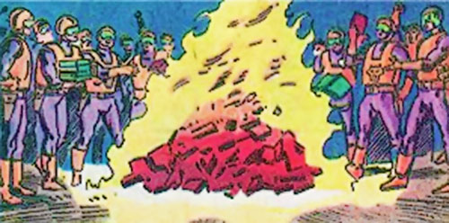 Watchdogs militiamen (Marvel Comics) burning books