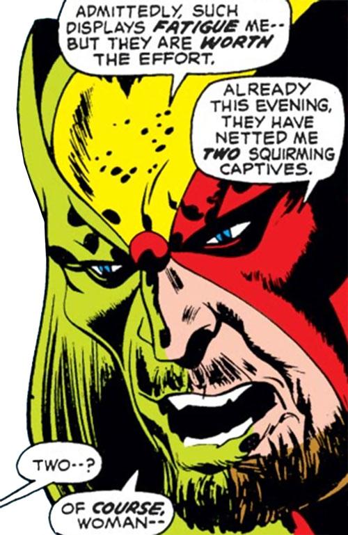 Watchlord (Black Widow enemy) (Marvel Comics) face closeup