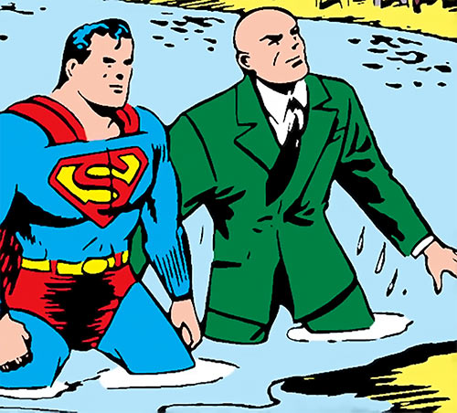 Water Sprite (Superman enemy) (Action Comics) Darby and Superman river
