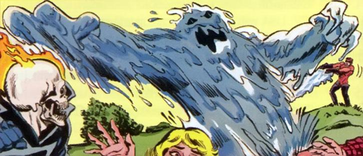Water Wizard (Peter van Zante) animates an oil monster