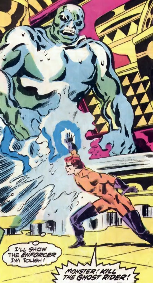 Water Wizard (Marvel Comics) creating a water monster
