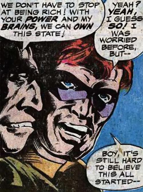 Water Wizard (Marvel Comics) closeup