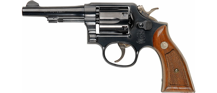 Typical .38 revolver - Smith & Wesson model 10