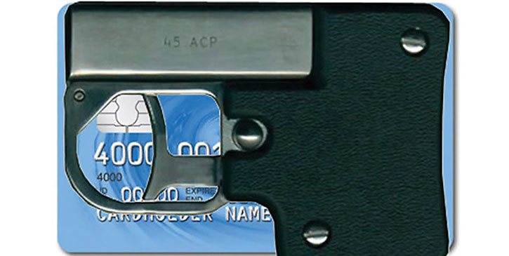 Credit card pistol