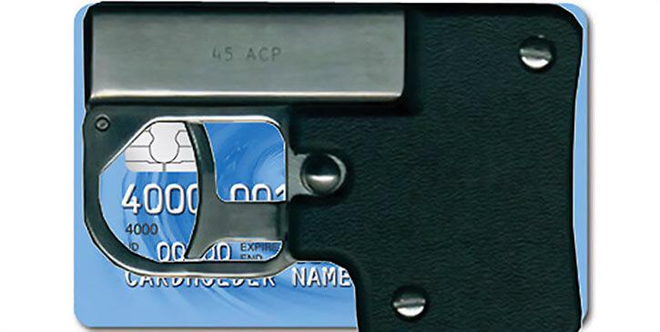 Credit card pistol