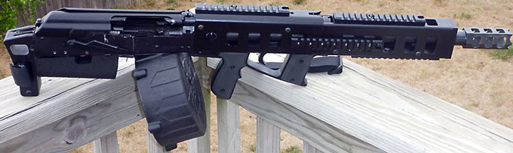 Tricked-out Saiga shotgun