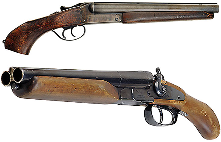 Double-barrelled sawed-off shotgun