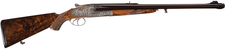 Typical elephant rifle