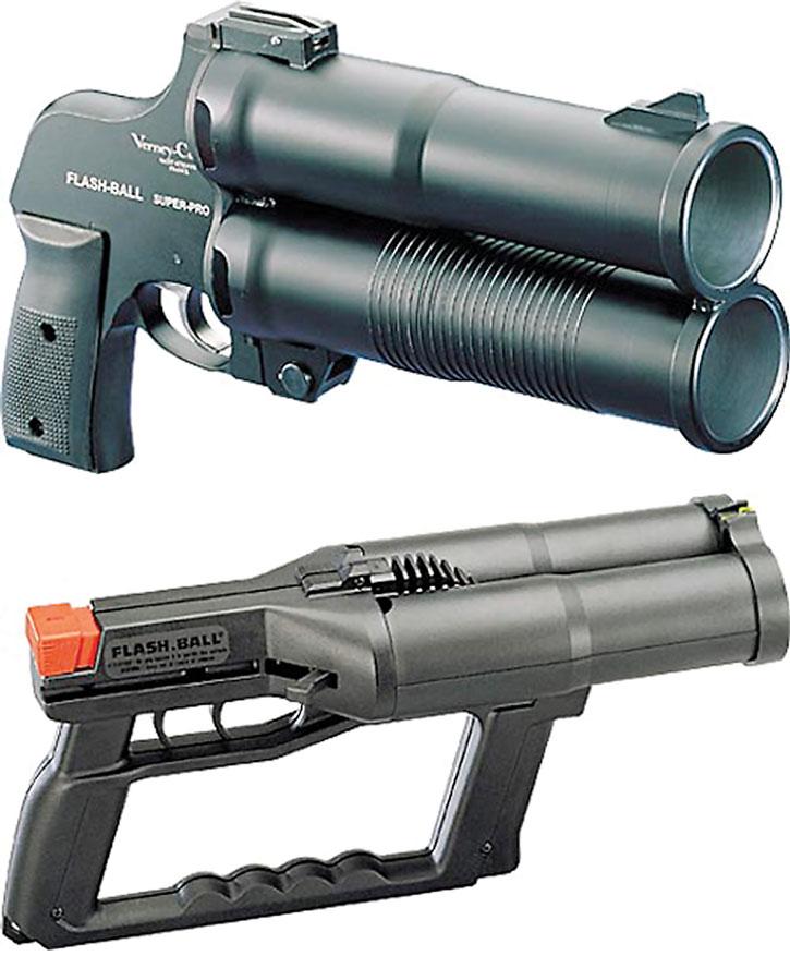 Flashball launcher