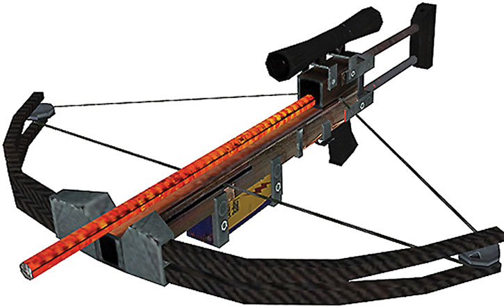 Half-Life crossbow with heated rebar