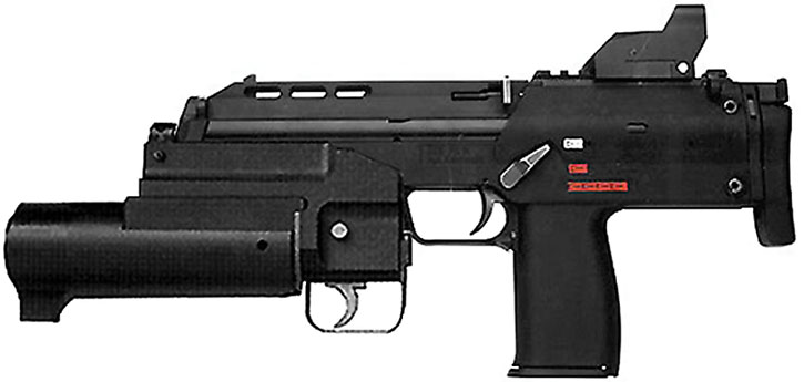 Personal Defense Weapon with grenade launcher