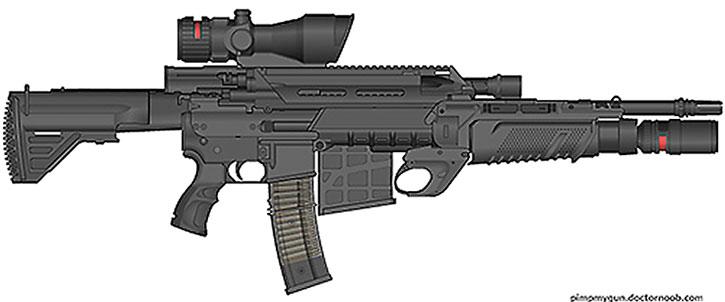 Comic book heavy assault rifle