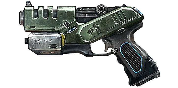 Science-fiction pistol