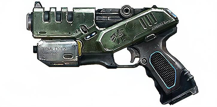 Science-fiction pistol