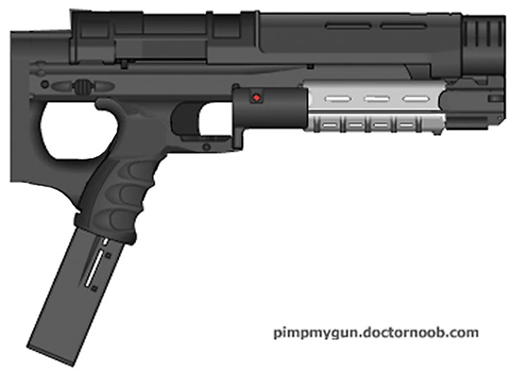 Comic book submachinegun