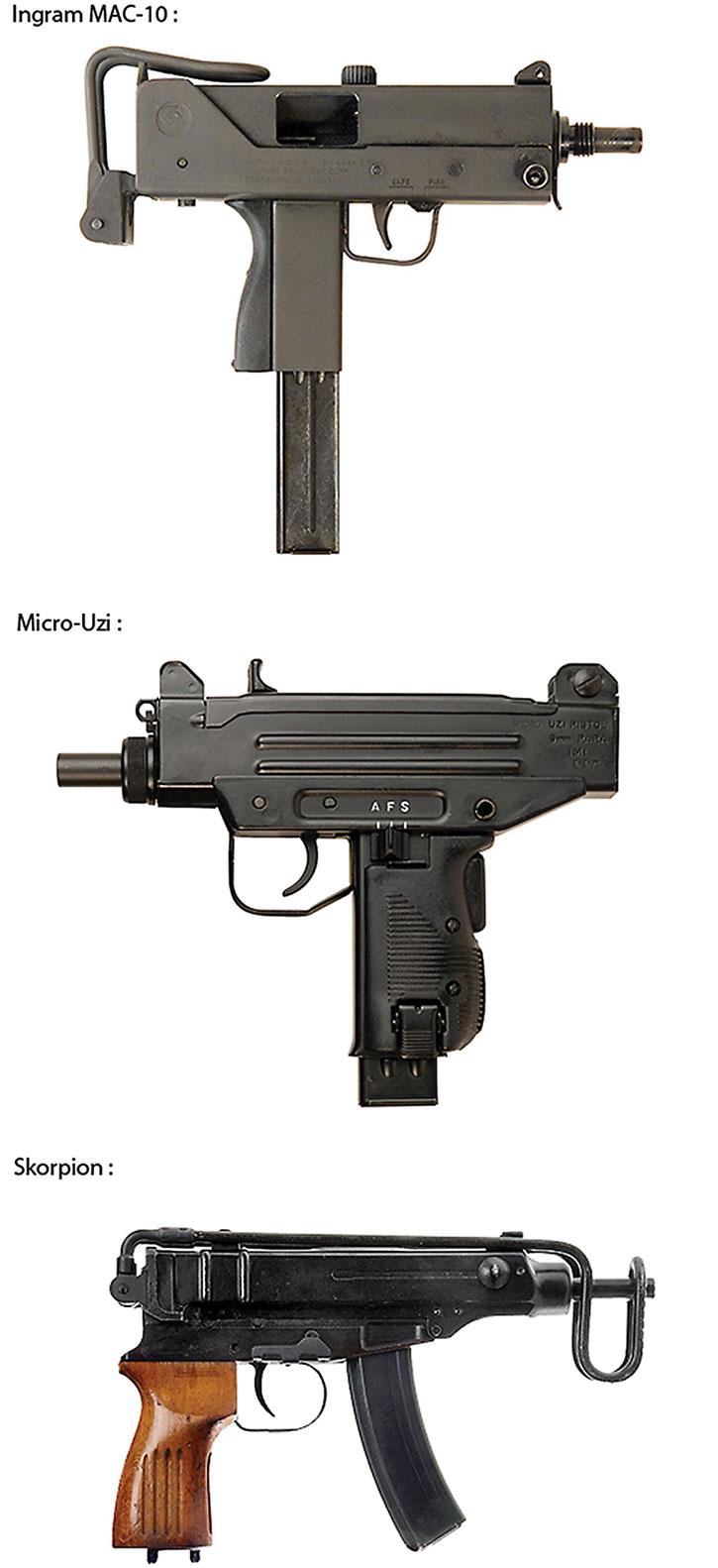 Typical machine pistols