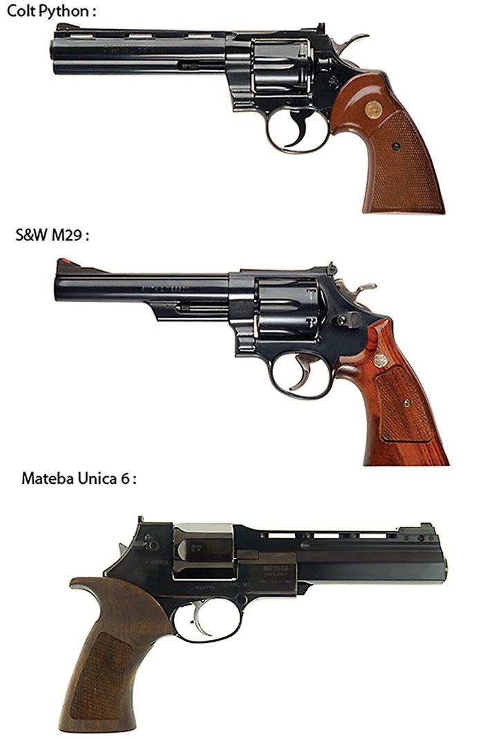 Magnum revolvers in black
