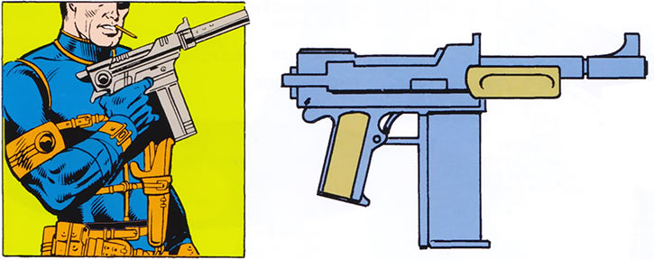 SHIELD machine pistol (Marvel Comics) from the 1983 official handbook