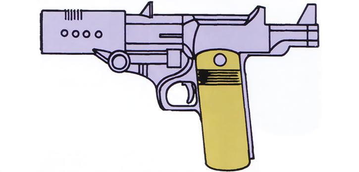 SHIELD plasma pistol handgun (Marvel Comics) from the 1983 official handbook