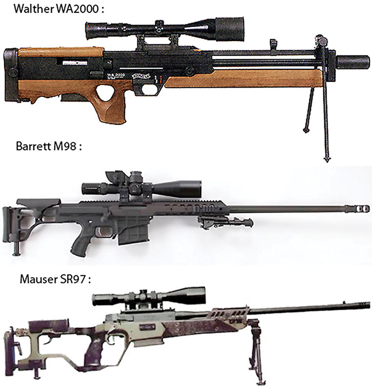 Powerful sniper rifles