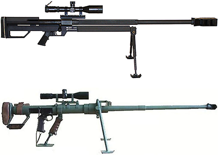 Single-shot anti-materiel rifles