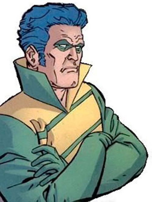 Weather Wizard (Flash enemy) (DC Comics) with arms crossed