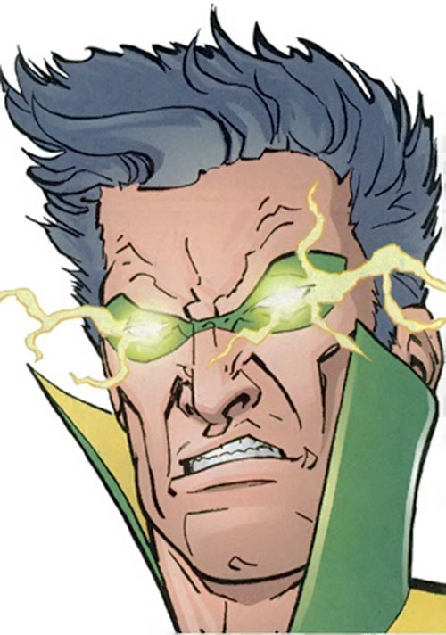 Weather Wizard (Flash enemy) (DC Comics) with lightning in his eyes