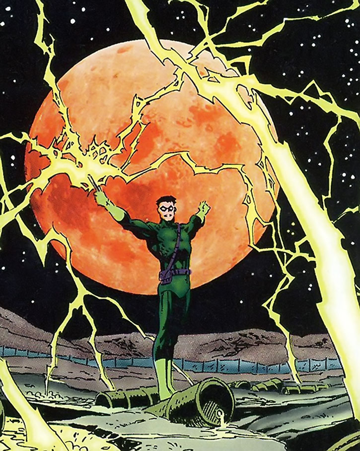 The Weather Wizard at night