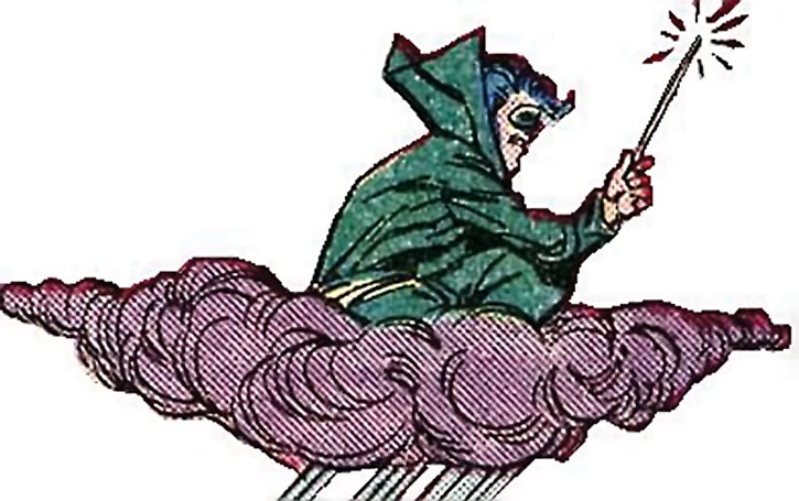 The Weather Wizard on a cloud