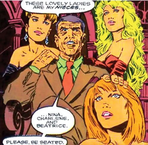 Weird Sisters (Quasar enemies) (Marvel Comics) in human disguise