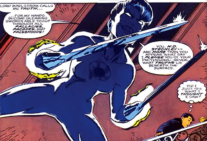 Truth of the Weird Sisters turns her arms into swords