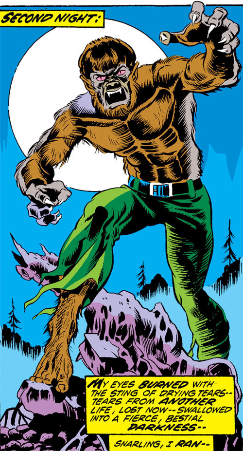 Werewolf by Night (Early) (Marvel Comics) second night