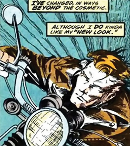 Werewolf by night (Marvel comics) (Classic) riding a motorbike