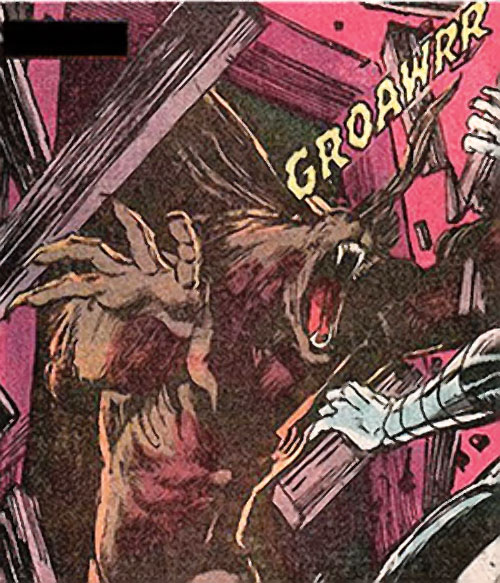 Werewolf by night (Marvel comics) (Classic) smashing through a door
