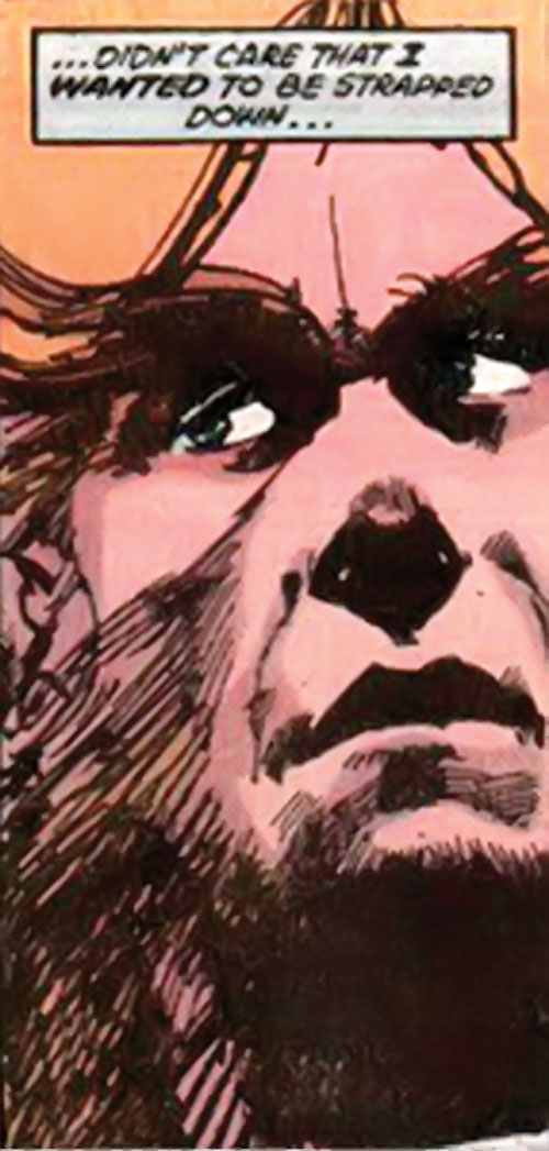 Werewolf by night (Marvel comics) (Classic) face closeup